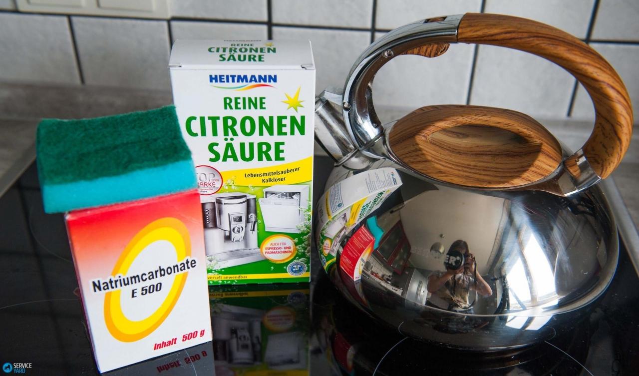 Как почистить чайник в домашних условиях содой  294
