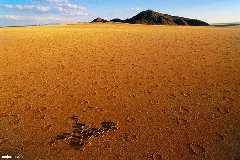 Загадочные круги в пустыне Намиб
