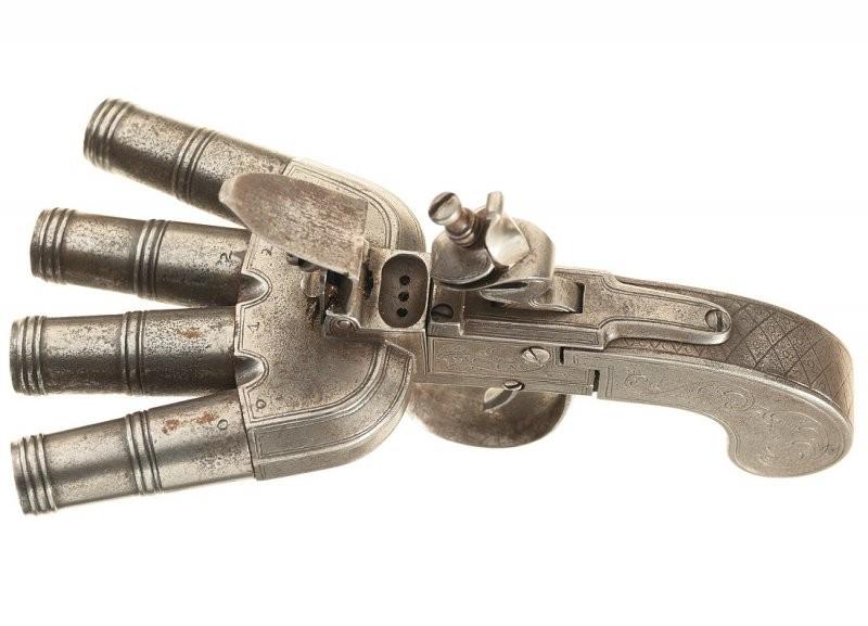Кремневый залповый пистолет Duck Foot
