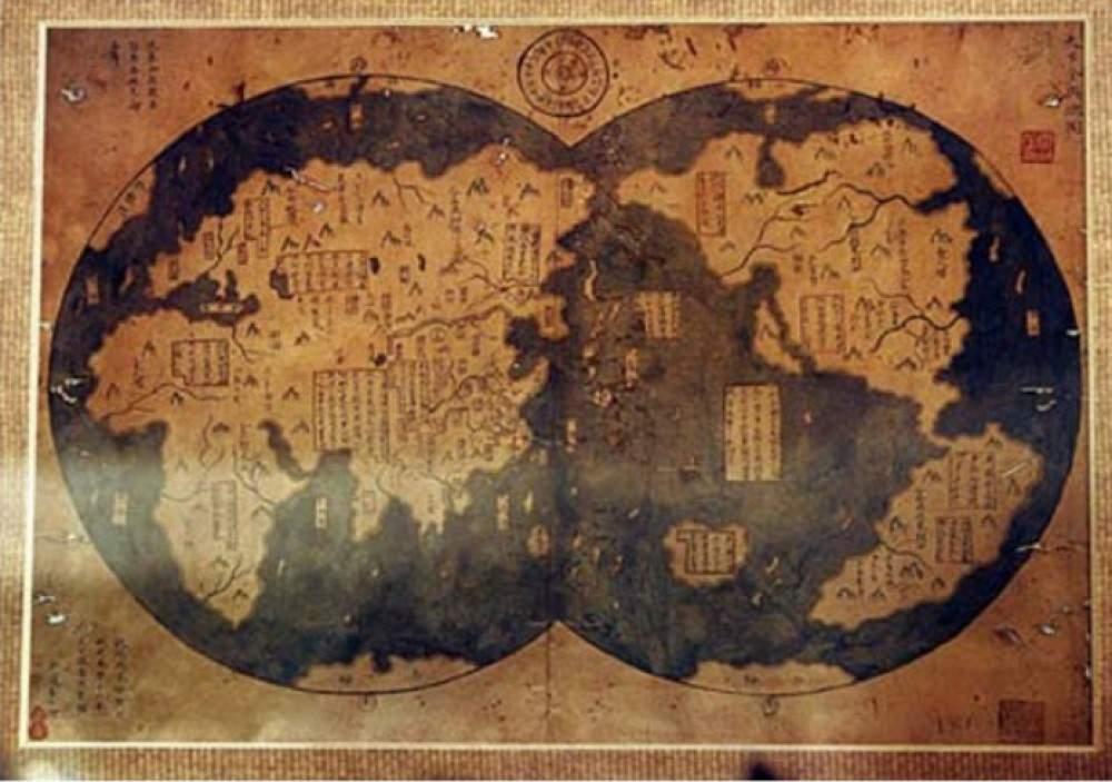 Карта двух Америк Доколумбовой эпохи.