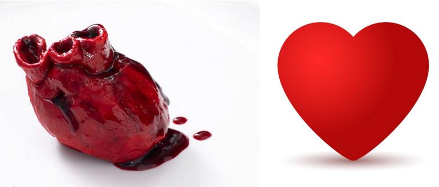 Сердце нарисованное фото