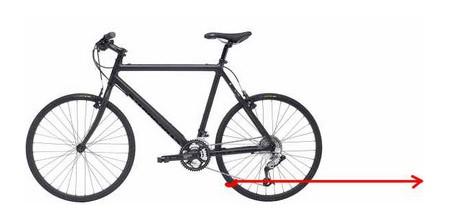В какую сторону поедет велосипед ?