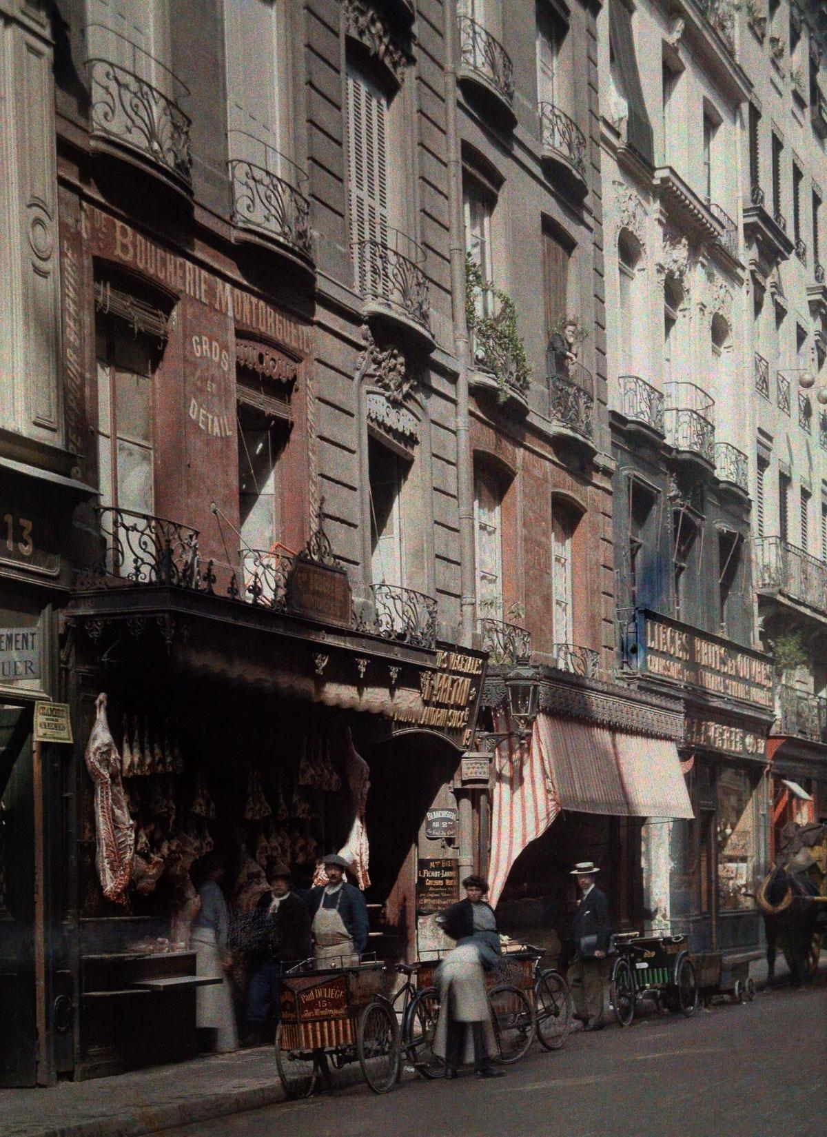 Цветные фотографии Парижа 1923 года