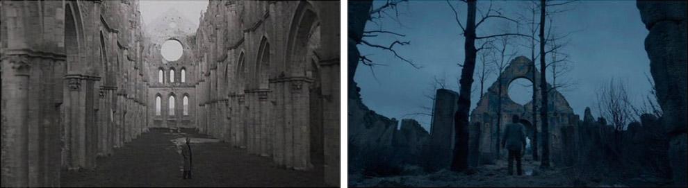 Кадры из фильмов «Ностальгия» и «Выживший»