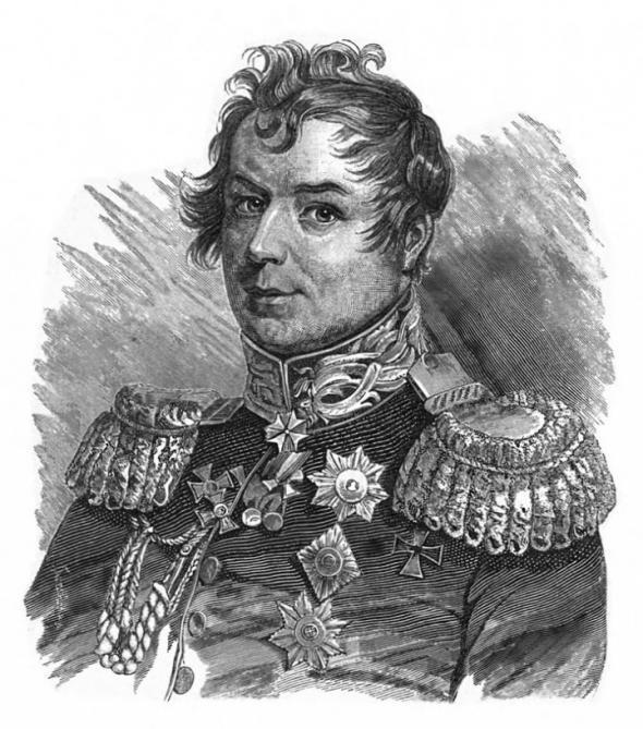 Граф Иван Дибич-Забалканский. Гравюра 1831г.