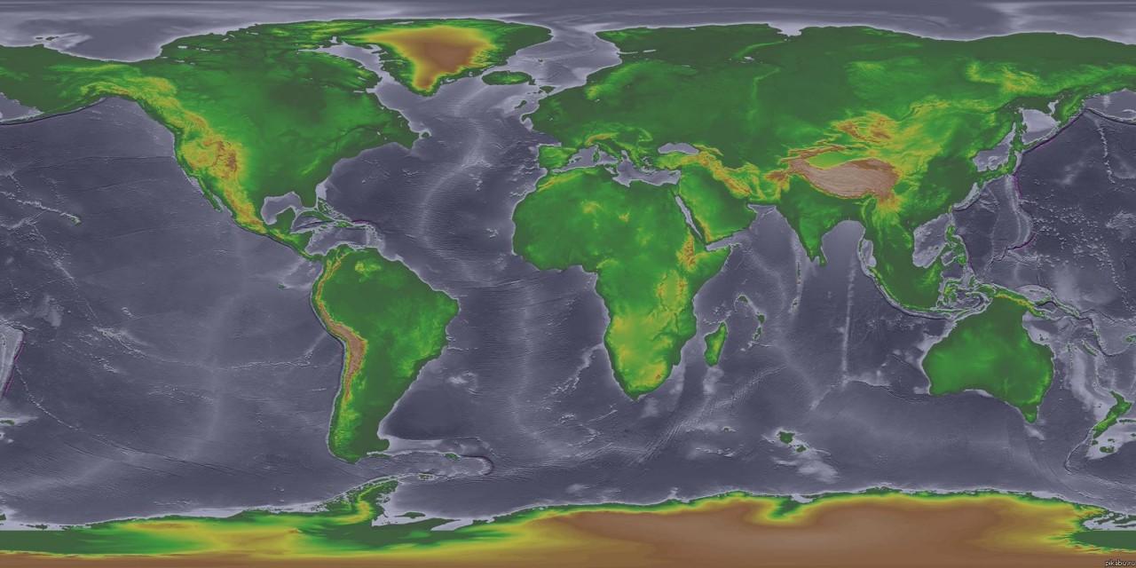 Карта мира 18000 лет назад