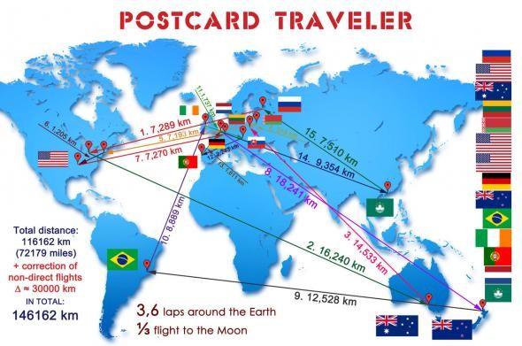 Подробная карта путешествия