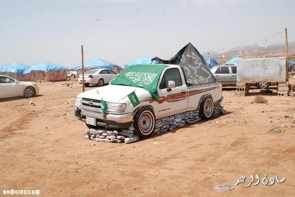 Машина на камнях