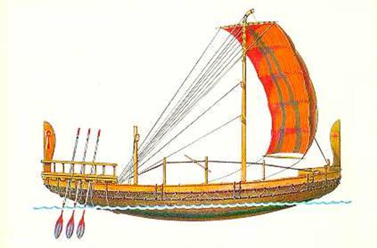 1. ЕГИПЕТСКИЙ ТОРГОВЫЙ КОРАБЛЬ В гробницах III династии были найдены изображения гру=зовых судов, приводимых в...