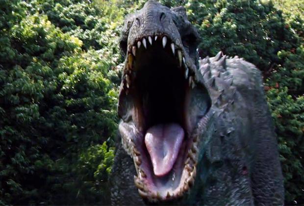 Агрессивный динозавр в фильме «Мир юрского периода»