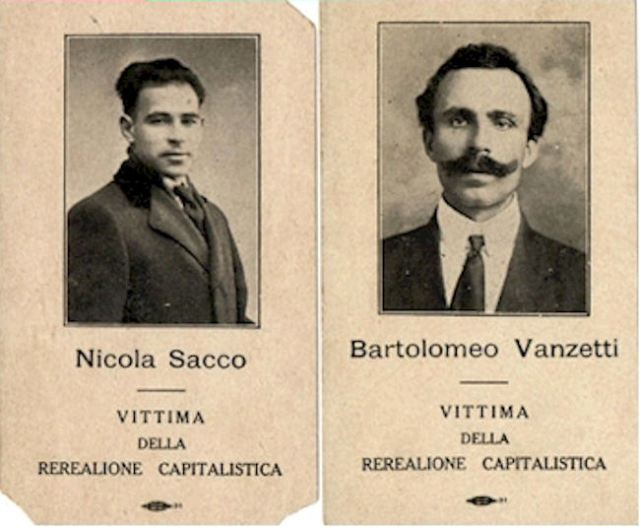 the 1921 sacco vanzetti trial is an example of discrimination against italian immigrants to the us
