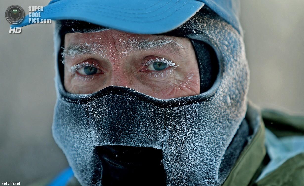 США. Миннеаполис, Миннесота. 6 января. Последствия рекордных морозов. (AP Photo/Elizabeth Flores)