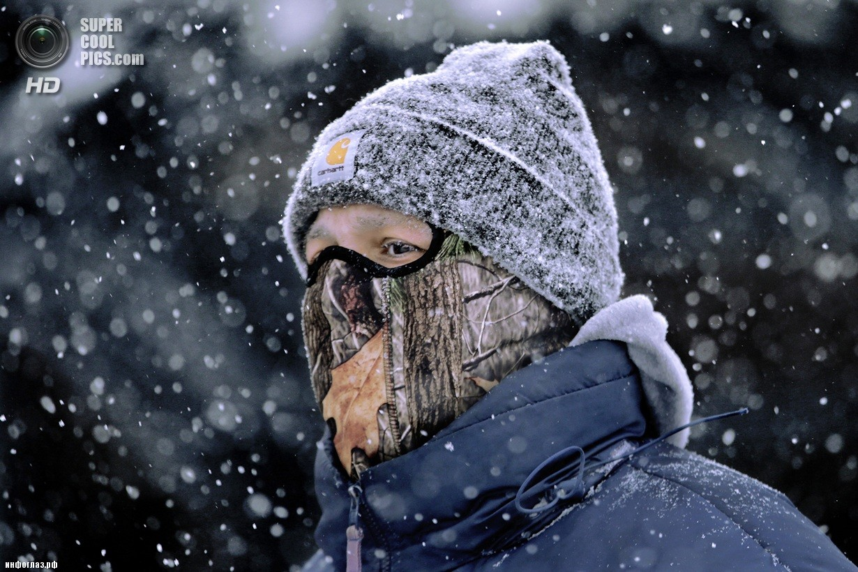 США. Спрингфилд, Иллинойс. 5 января. Последствия рекордных морозов. (AP Photo/Seth Perlman)